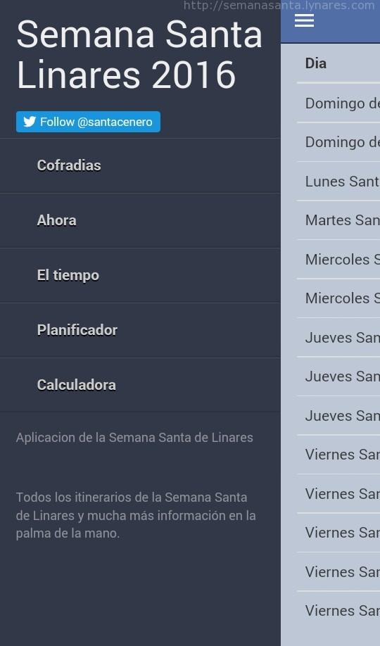 Aplicación Android Semana Santa de Linares 2016