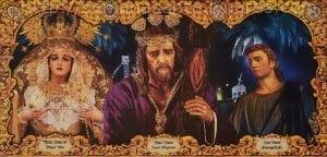 Nazareno de Linares con Mª Mayor Dolor y San Juan Evangelista
